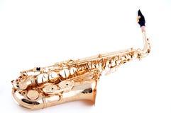 Sassofono professionale dell'oro Immagini Stock Libere da Diritti