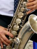 Sassofono tenore Fotografie Stock
