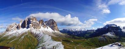 Sassolungo。 意大利 免版税库存照片