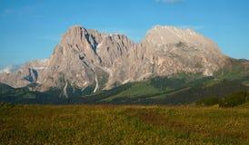 Sassolungo de Distinctiv em Val Gardena Foto de Stock Royalty Free