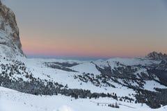 Sassolungo from Gardena mountain pass in the Dolomites Stock Images