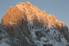 Sassolungo from Gardena mountain pass in the Dolomites Royalty Free Stock Photography