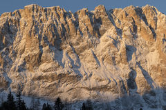 Sassolungo from Gardena mountain pass in the Dolomites Stock Images