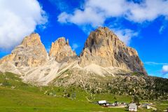 Sassolungo group in Dolomites Stock Images