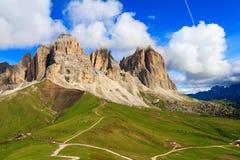 Sassolungo group in Dolomites Royalty Free Stock Images