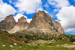 Sassolungo group in Dolomites Royalty Free Stock Image