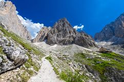 Sassolungo group in Dolomites, North Italy stock photo