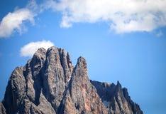 Sassolungo group, Dolomiti, Trentino Alto Adige, Italy. Particular of Sasso Lungo 3181  view from Siusi Stock Image