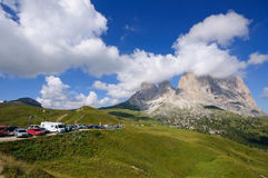 Sassolungo/Langkofel - Dolomia, Italia Fotografia Stock