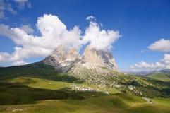 Sassolungo/Langkofel - Dolomia, Italia Fotografie Stock Libere da Diritti