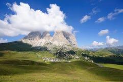 Sassolungo/Langkofel - Dolomia, Italia Immagini Stock Libere da Diritti