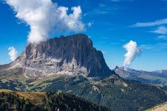 Sassolungo, Langkofel grupa -, dolinny Gardena Dolomity, W?ochy zdjęcie royalty free