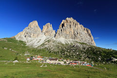 Sassolungo - Langkofel mount from Sella pass Stock Image