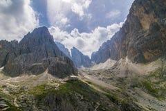 Sassolungo|Langkofelhà ¼ tte 库存照片