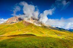 Sassolungo mountain range at sunny summer day.  Dolomites mounta Stock Photography