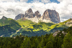Sassolungo and Sassopiatto massif, Dolomites, Italy Stock Photography