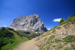 Sassolungo - Val Gardena Royalty Free Stock Photo