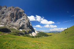 Sassolungo - Val Gardena Stock Photography
