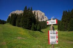 Sassolungo - Val Gardena Stock Photo