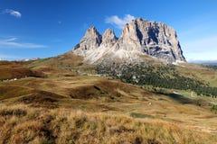 Sassolungo, Val Gardena, dolomia, Italia La st dell'alpe di Sassolungo Fotografia Stock