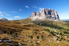 Sassolungo, Val Gardena, dolomites, Itália O st do cume de Sassolungo imagens de stock royalty free