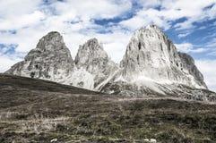 Sassolungo, Val Gardena - Dolomites Stock Photography