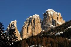 Sassolungo (Langkofel) Group of the Italian Dolomites Stock Photos