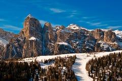 Sassongher, Alta Badia, Italia. Immagine Stock Libera da Diritti