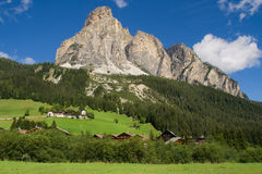 Sassongher from Corvara in Badia Stock Photo