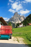 Sassongher mount from Corvara Royalty Free Stock Photo
