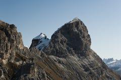 Sassongher szczyt Zdjęcia Royalty Free