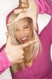 Sassy blonde Frau. lizenzfreie stockfotos