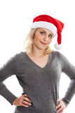 Sassy Christmas woman Royalty Free Stock Image