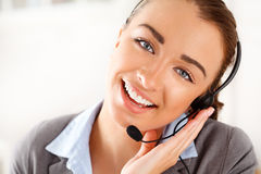 Sassy Customer service agent Stock Images
