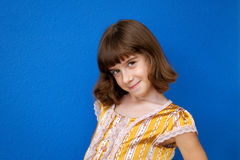 Sassy Little Girl Shows Off Haircut Royalty Free Stock Images