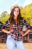 Sassy Teen Cowgirl Royalty Free Stock Image