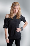 Sassy Teenage Girl. A portrait of a pretty teenager looking sassy as she stares at the viewer Royalty Free Stock Photo