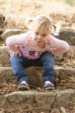 Sassy toddler Royalty Free Stock Images