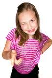 Sassy unge som pekar och blinkar Royaltyfria Bilder