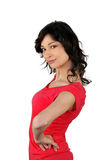 Sassy woman. With her hands on her hips Royalty Free Stock Photo