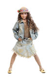 Sassy young girl. In hip modern clothing stock photography