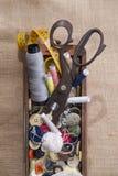 Sastre de los accesorios Fotografía de archivo