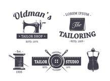 Sastre Emblems del vintage Fotografía de archivo libre de regalías