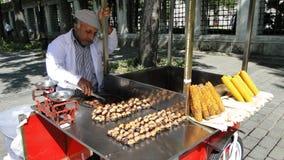 Satıcı de Seyyar, vendedor ambulante Estambul en pavo Imagenes de archivo