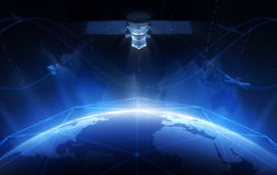 satélite Imagenes de archivo