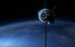 satélite 3d Fotografía de archivo