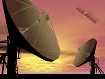 Satélite de comunicação Imagens de Stock Royalty Free