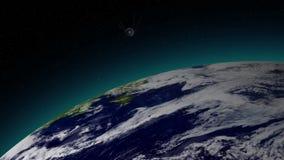 Satélite de terra do cosmos filme