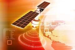Satélite en la órbita terrestre stock de ilustración