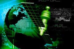 Satélite en la órbita terrestre libre illustration